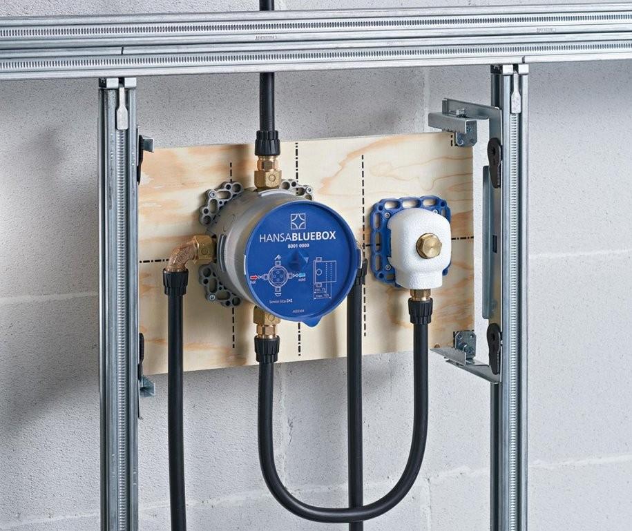 Neues Unterputzanschlusssystem Hansabluebox Verspricht Hohen von Unterputz Armatur Dusche Hansa Bild