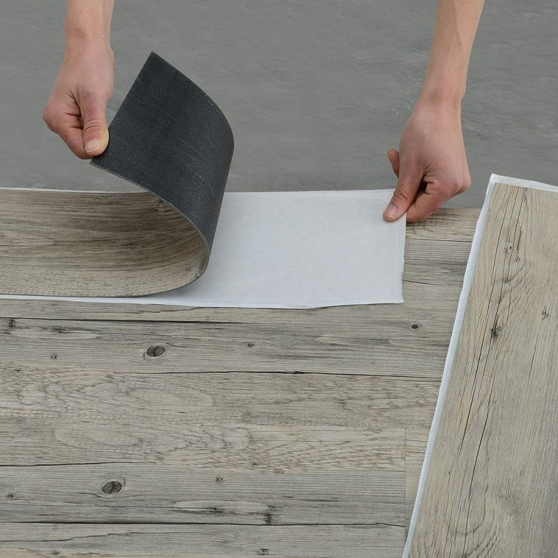 Neuholz] Vinyllaminat (1M²) Selbstklebend Eiche  Grau (7 Dekor von Vinyl Laminat Selbstklebend Verlegen Bild