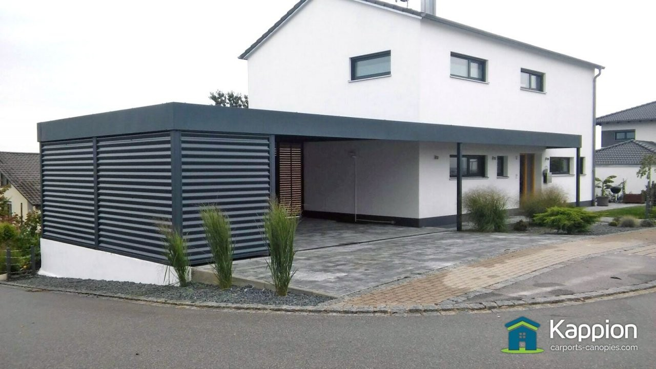 New For The Uk Contemporary Euro Carport Rooms Complete With A von Carport Am Haus Modern Bild