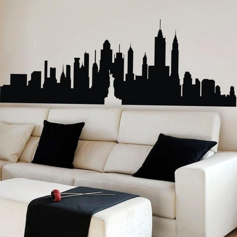 New York City Skyline Big Apple Wandaufkleber Nyc Vinyl Wandtattoo von Skyline New York Wandtattoo Photo