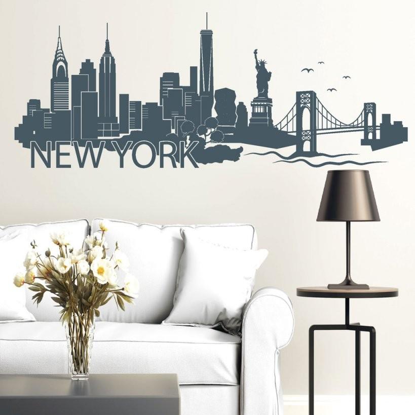 """New York"""" Skyline  Wandtattoo von Skyline New York Wandtattoo Bild"""