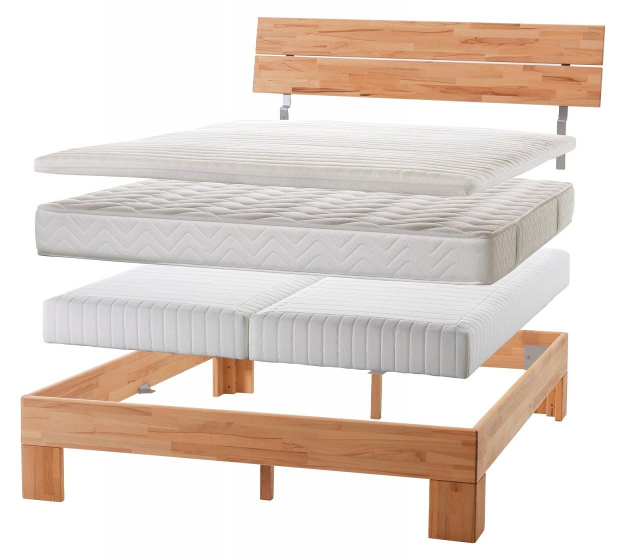 Normales Bett Zum Boxspringbett Umbauen  Einlegesystem Kingston von Normales Bett Zum Boxspringbett Umbauen Bild