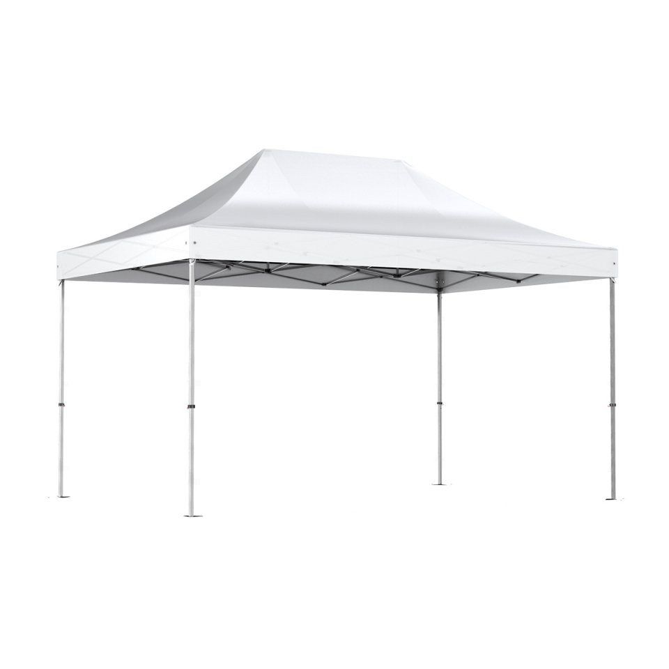 Nur 40900€ Weiß Faltpavillon 3X45M Alu 40 Polyester von Faltpavillon 3X4 5 Wasserdicht Bild