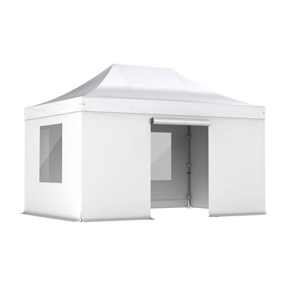 Nur 55000€ Weiß Komplettset Faltpavillon 3X45M Alu 40 (Mit von Faltpavillon 3X4 5 Wasserdicht Photo