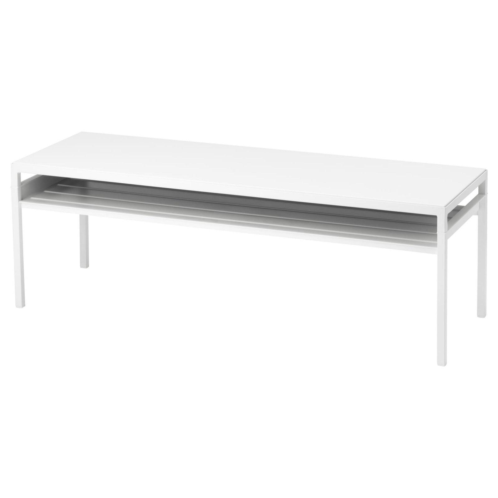 Nyboda Couchtischwendbare Platte  Weißgrau  Ikea von Couchtisch Mit Schublade Ikea Bild