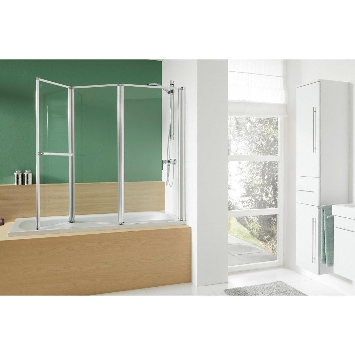 Obi Badewannenaufsatz Mit Handtuchhalter Mela Iii Echtglas 140 Cm X von Duschwand Für Badewanne Obi Bild