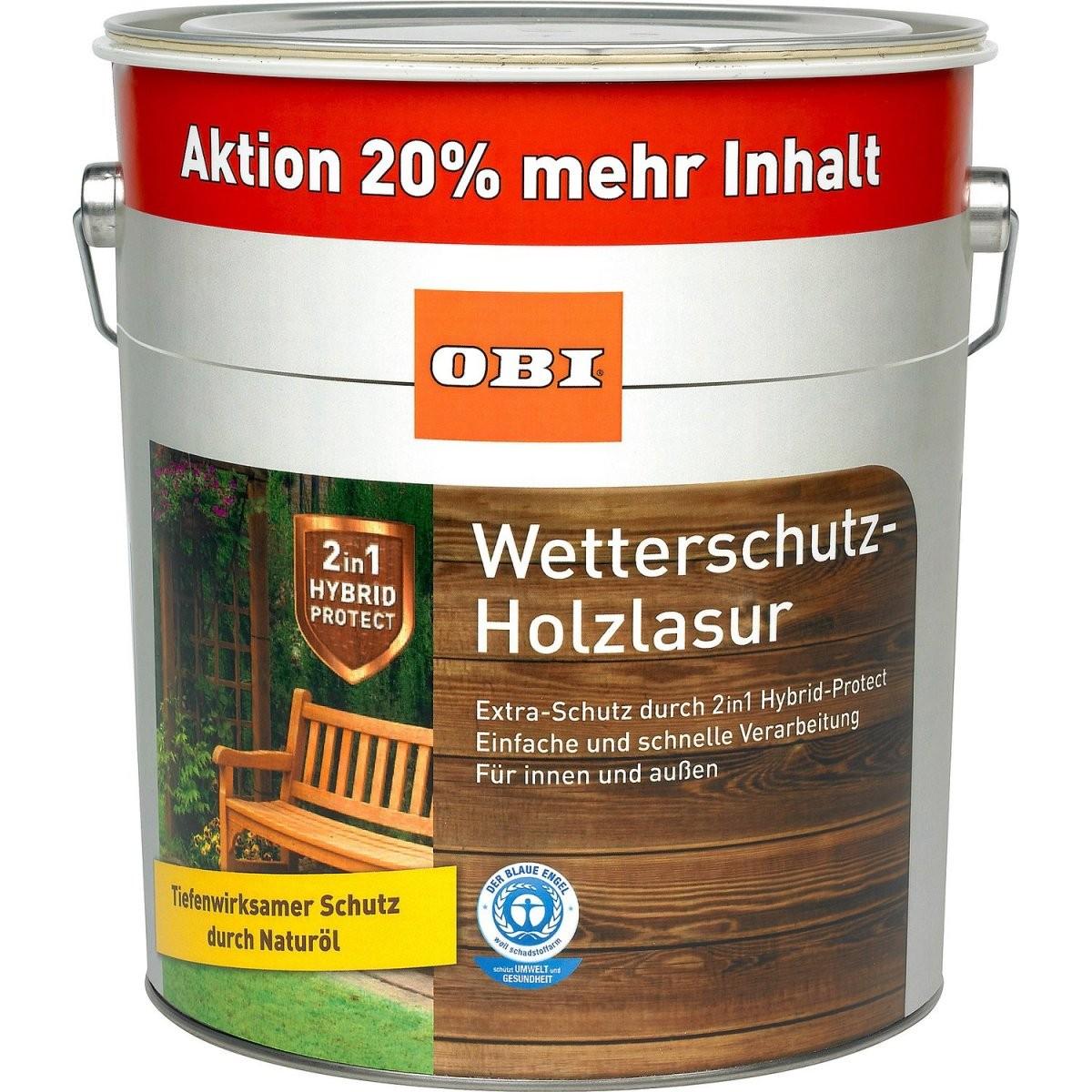 Obi Wetterschutzholzlasur 2In1 Teak 48 L Kaufen Bei Obi von Baufix Wetterschutz Holzgel Palisander Photo