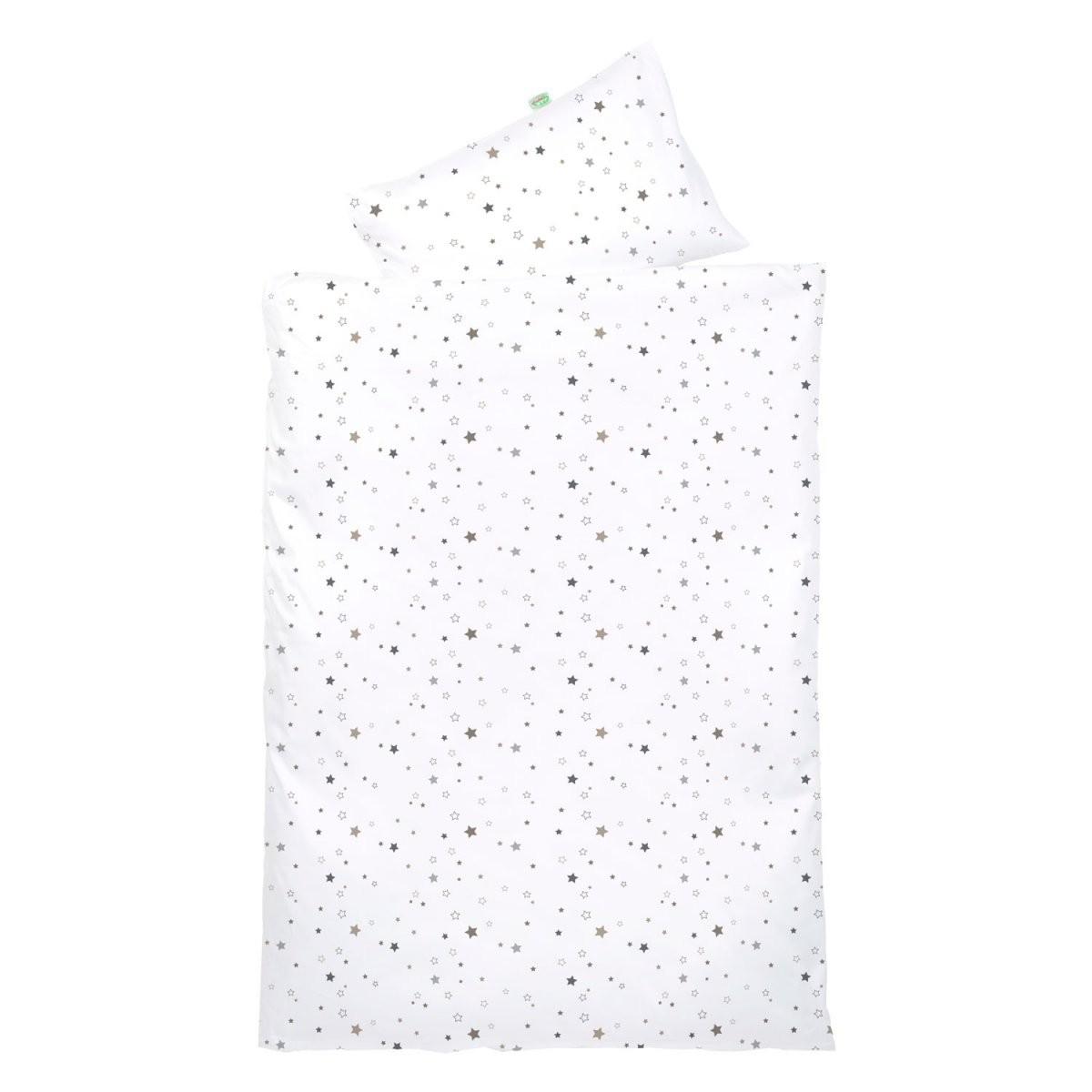 Odenwälder Bettwäsche 100X135 Sterne Silvercoffee  Babyjoech von Bettwäsche 100X135 Sterne Bild