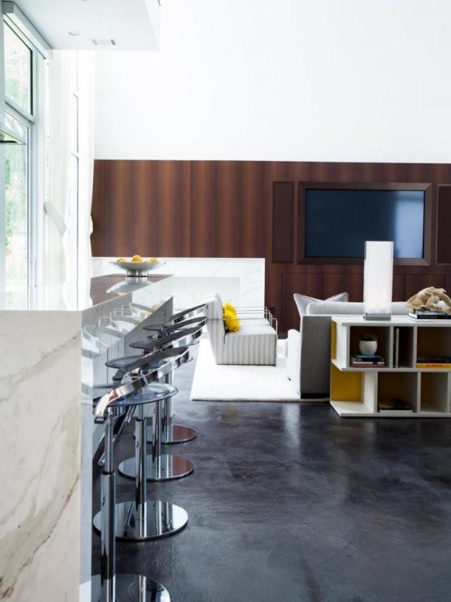 Offene Küche Mit Wohnzimmer  Pro Contra Und 50 Ideen von Wohnzimmer Mit Küche Ideen Bild