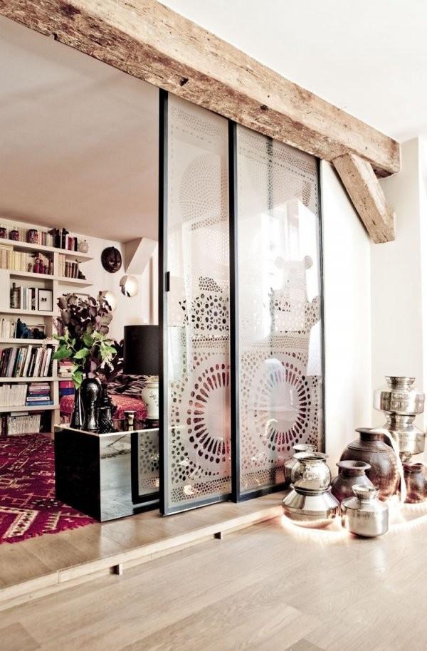 Offene Küche Vom Wohnzimmer Abtrennen Trennwände Im Industrielook von Offene Küche Abtrennen Bilder Bild
