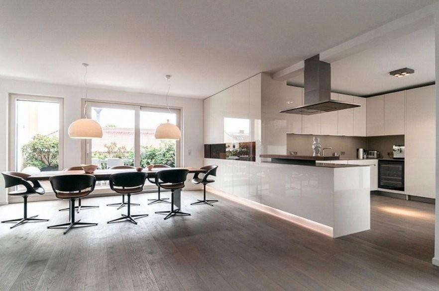 Offene Kuche Wohnzimmer Einrichten Rauchmelder Im Mit Offener Modern von Moderne Wohnzimmer Mit Offener Küche Photo