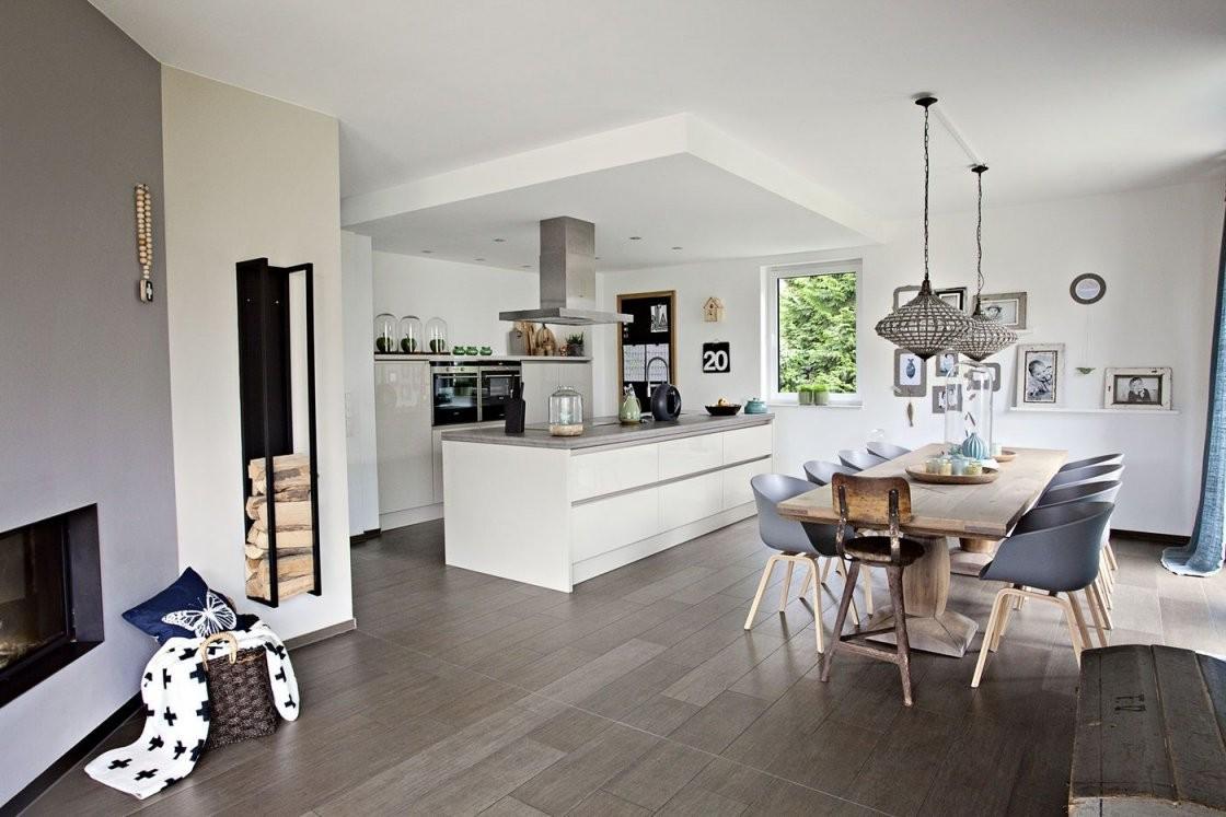 Offene Küchen Ideen  Bilder von Moderne Wohnzimmer Mit Offener Küche Photo