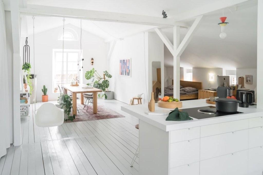 Offene Küchen Ideen  Bilder von Wohnzimmer Mit Offener Küche Einrichten Photo