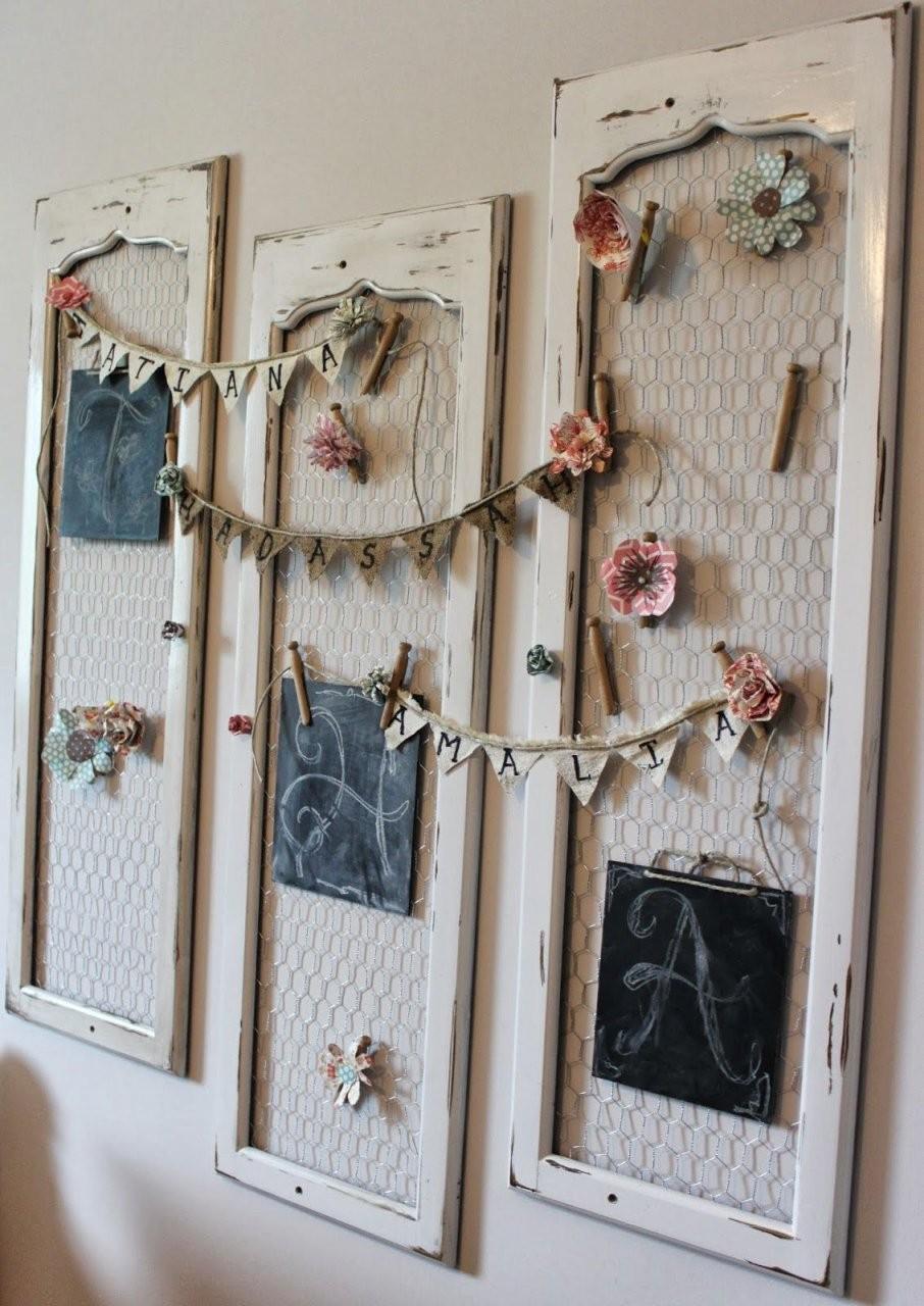 Old Shutters To Monogram Hanger  Diy  Sieraden Opslag Kippengaas von Shabby Chic Selber Machen Garderobe Bild