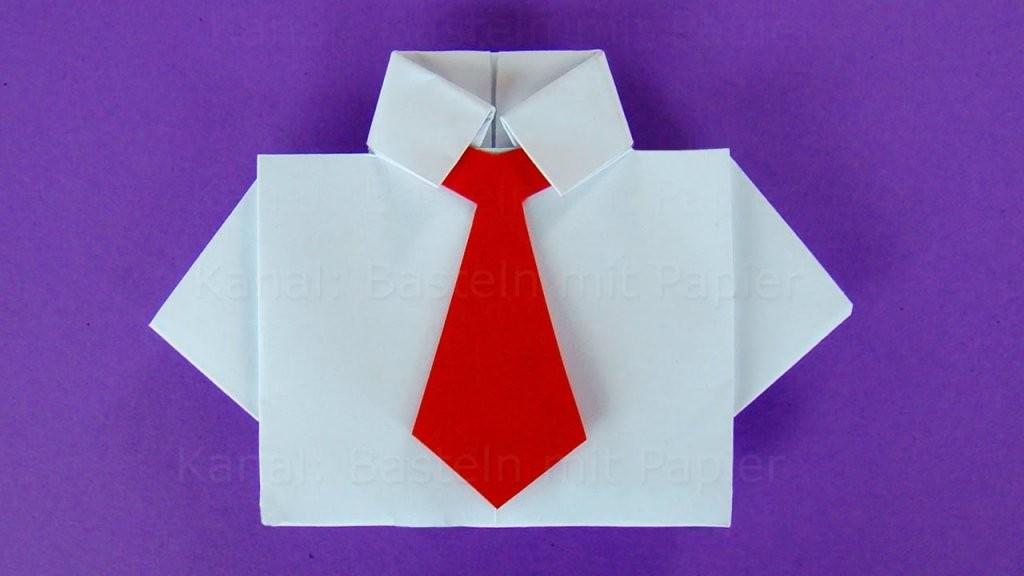 Origami Hemd Mit Krawatte Basteln Mit Papier 👔 Diy Geschenkideen von Origami Hemd Mit Krawatte Bild