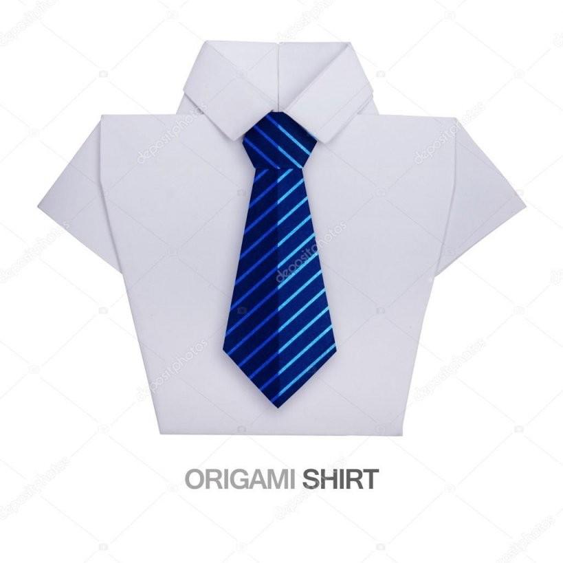 Origami Hemd Mit Krawatte — Stockfoto © Mandrixta 106521950 von Origami Hemd Mit Krawatte Photo