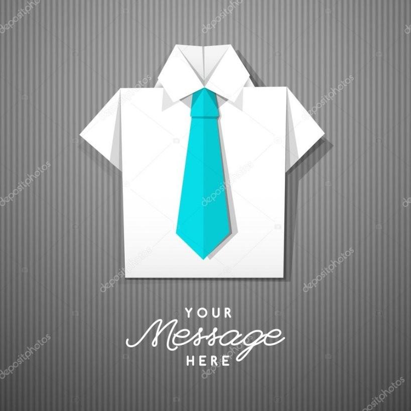 Origami Hemd Mit Krawatte — Stockvektor © Redcollegiya 113671264 von Origami Hemd Mit Krawatte Bild