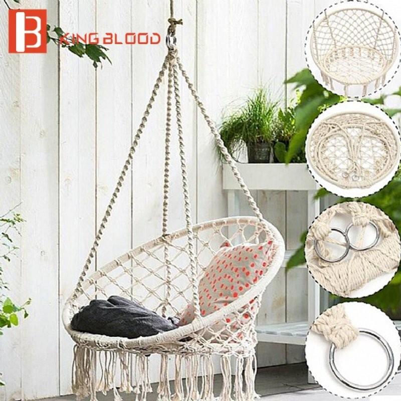 Outdoor Swing Chair Hanging Round Hammock Furniture  Aliexpress von Round Porch Swing Bed Bild