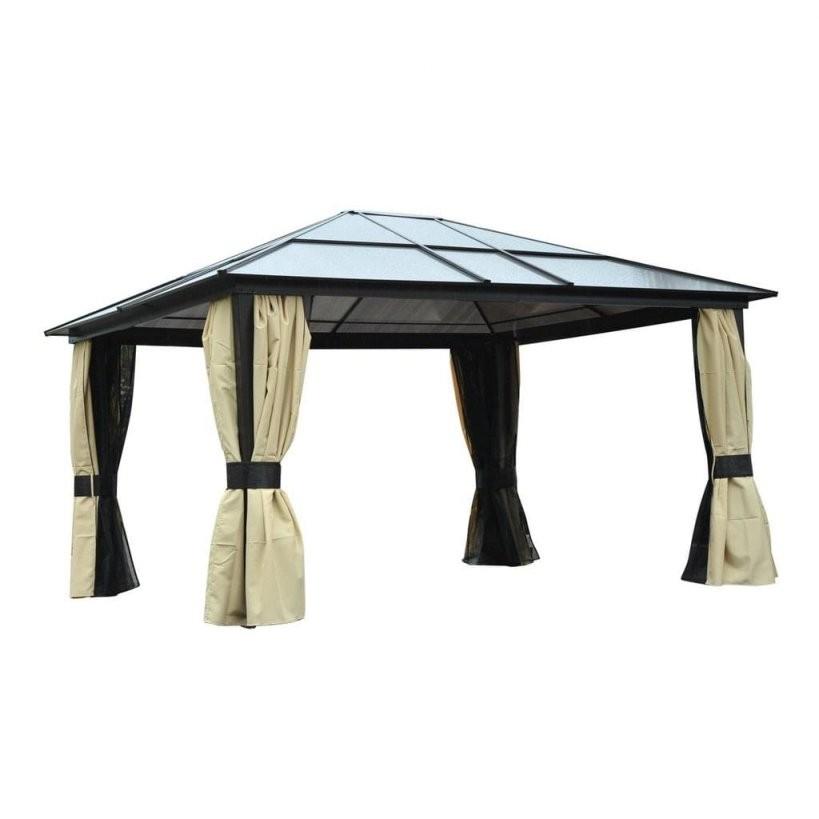 Outsunny Luxus Pavillon Mit Lichtdurchlässigem Dach B  Real von Pavillon Dach 3X4 Wasserdicht Photo
