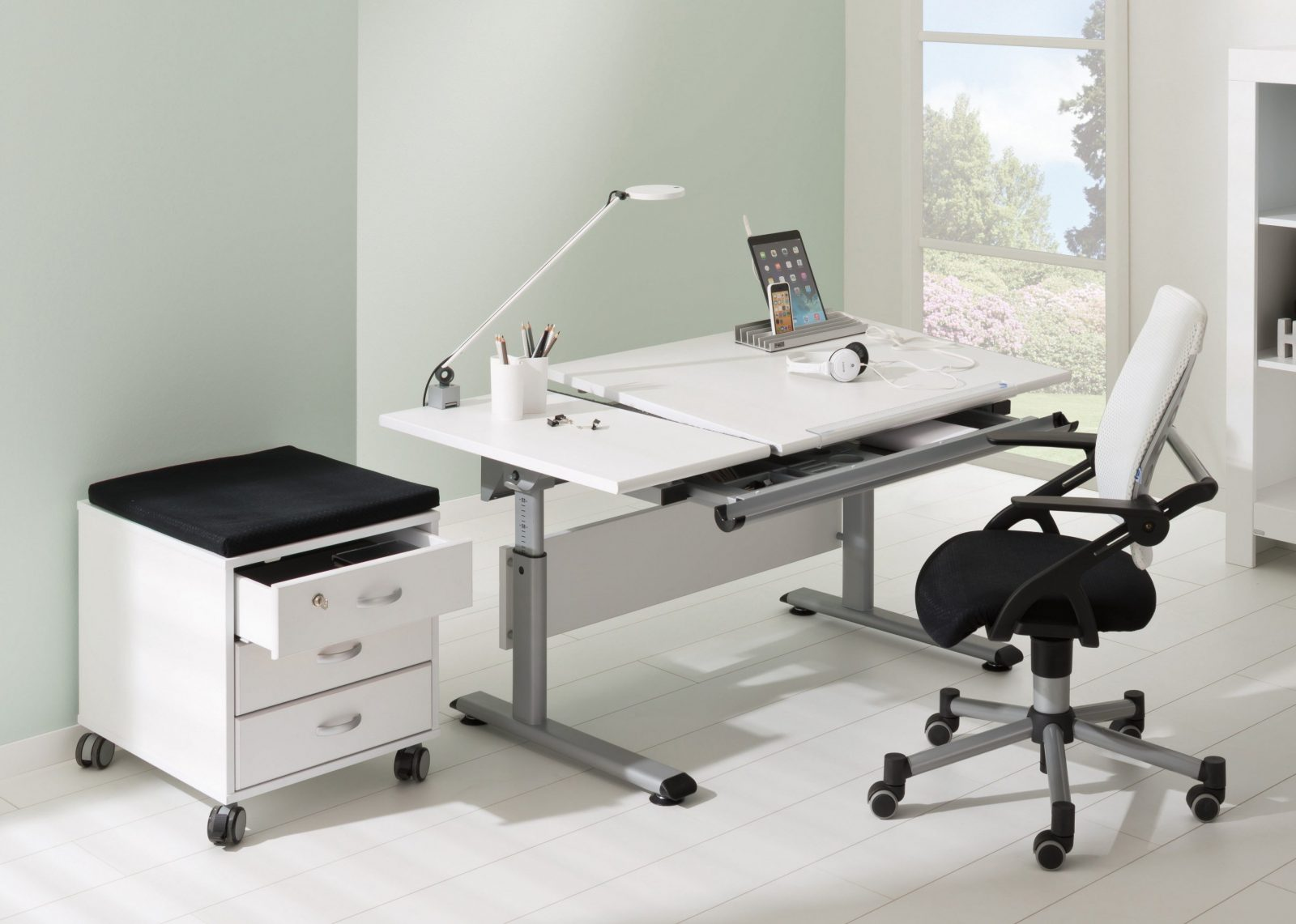 Paidi Marco 2 130 Gt Schreibtisch Weiß  Platte Geteilt  Möbel Letz von Schreibtisch Marco 2 Gt Bild