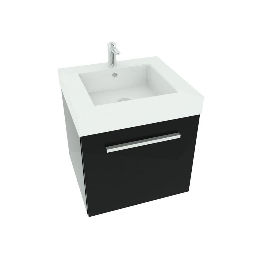 Paket] Waschtisch Mit Waschbecken Unterschrank City 100 50Cm Esche von Waschbecken Mit Unterschrank 50 Cm Photo