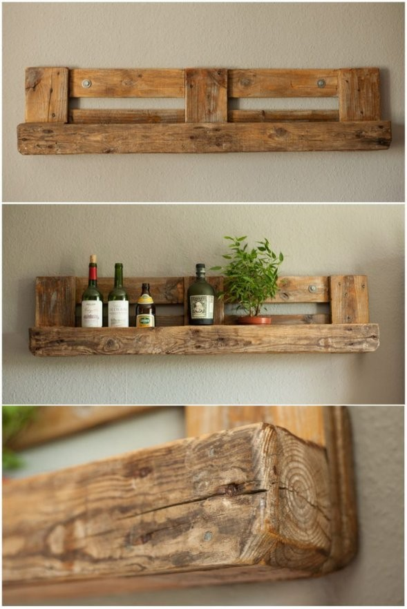 Pallet Rustic Shelf  Decorating Ideas  Pallet Home Decor Pallet von Wandregal Aus Paletten Selber Bauen Photo