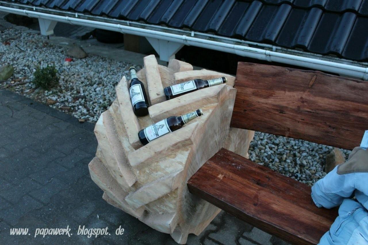 Papawerk Männer Holz Und Kettensägen Rustikale Bank Gartenmöbel von Rustikale Gartenbank Aus Baumstämmen Photo