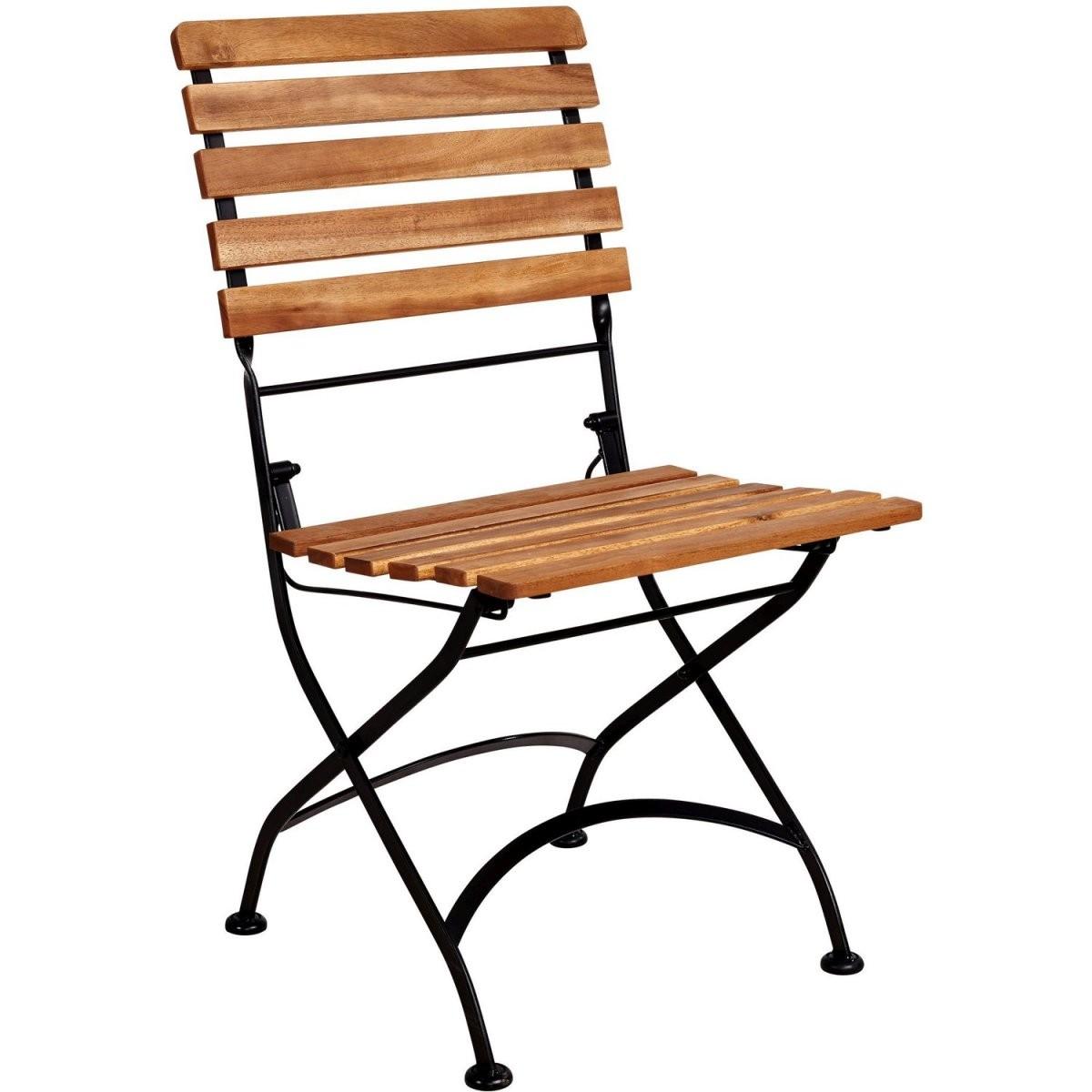 Parklife Gartenstuhl Klappbar 47 X 54 X 88 Cm Holz Und Metall von Gartenstühle Metall Holz Klappbar Bild