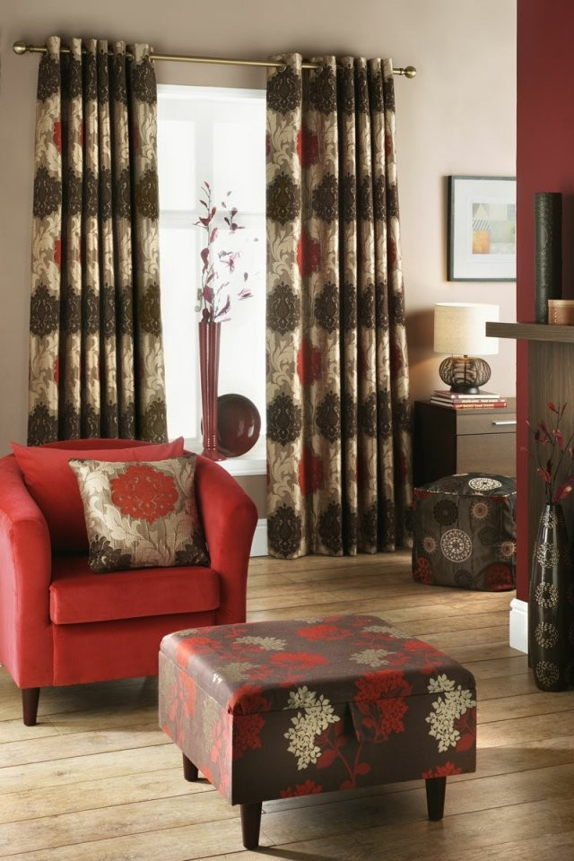 Passende Gardinen Für Das Wohnzimmer Auswählen  20 Schöne Ideen von Gardinen Muster Für Wohnzimmer Bild