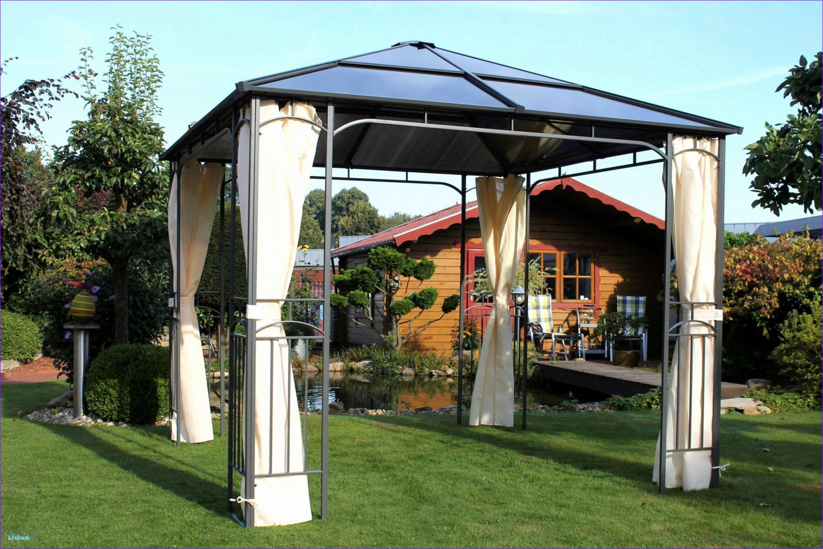 Pavillon 3X3 Wasserdicht Stabil Für Pavillon 3X4M Wasserdicht von Pavillon Metall 3X3 Wasserdicht Bild