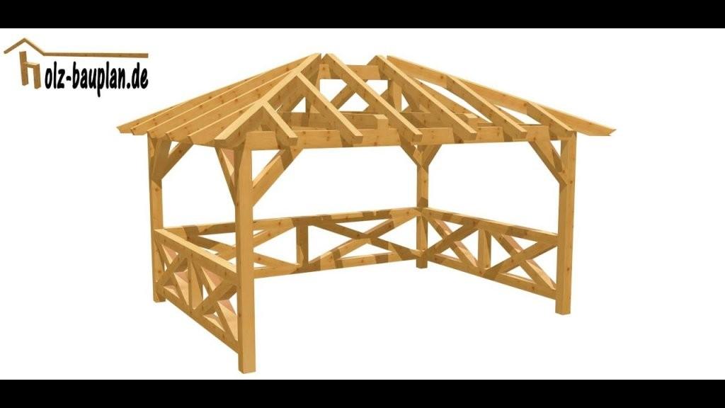 Pavillon Einfach Selber Bauen  Youtube von Pavillon Selber Bauen Flachdach Bild