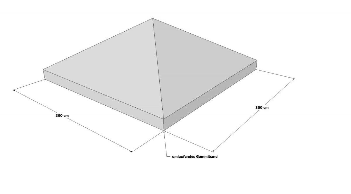 Pavillon Ersatzdach 3X3  Schutzhülle  Wasserdicht von Ersatzdach Für Pavillon 3X3 Bild