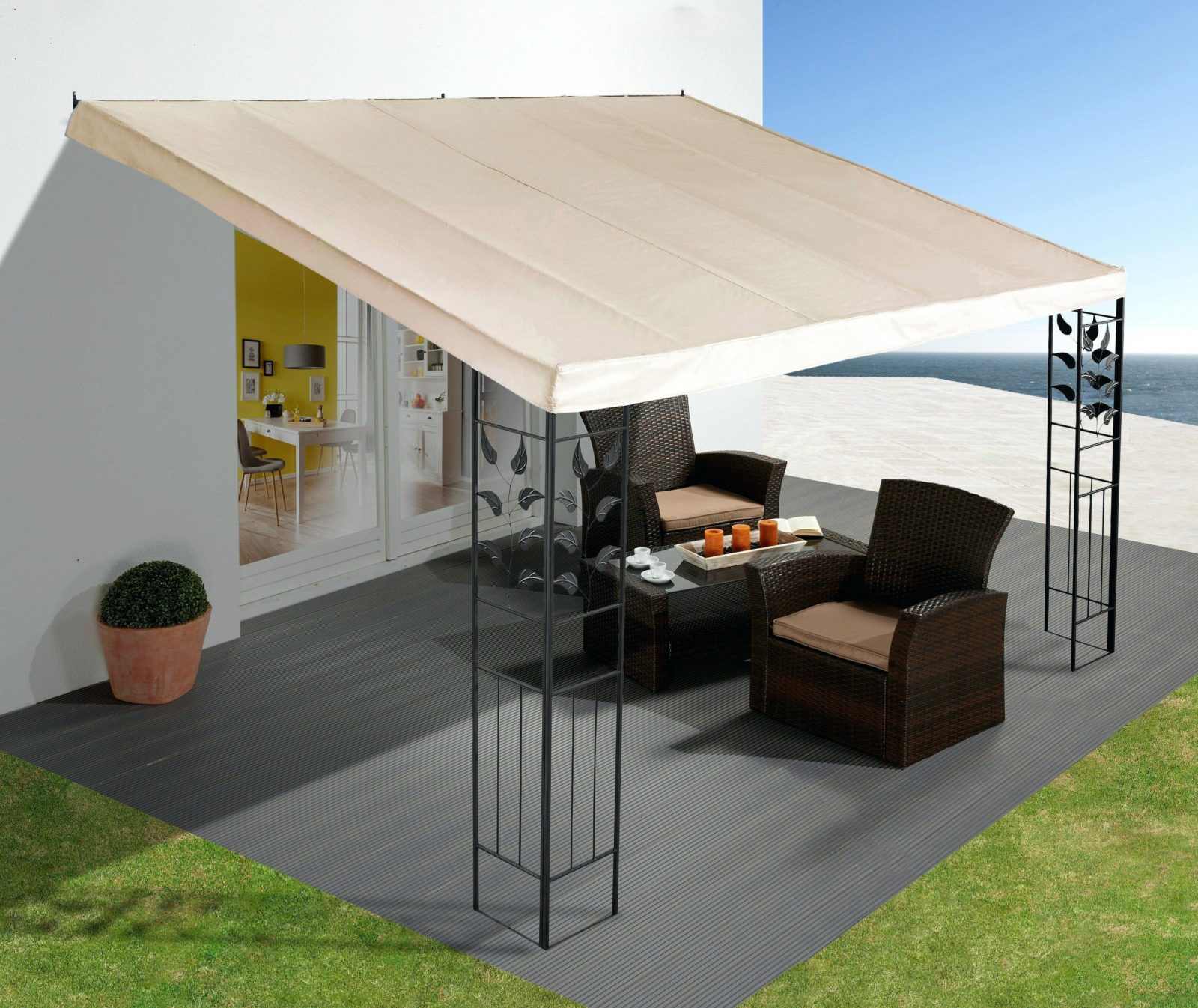 Pavillon Metall 3×4 – Vstepontario von Pavillon Metall 3X4M Wasserdicht Photo