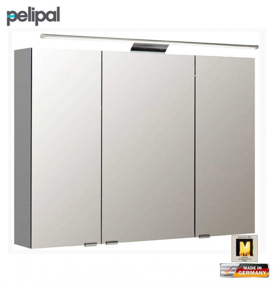 Pelipal Neutraler Spiegelschrank 100 Cm Mit Led Aufsatzleuchte  S5 von Bad Spiegelschrank 100 Cm Breit Photo