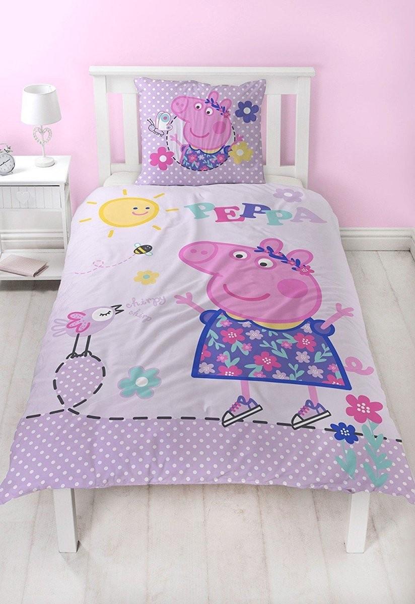 Peppa Pig Flanell Mädchen Bettwäsche Wende Motiv Warm  Kuschelig von Bettwäsche Biber Mädchen Bild