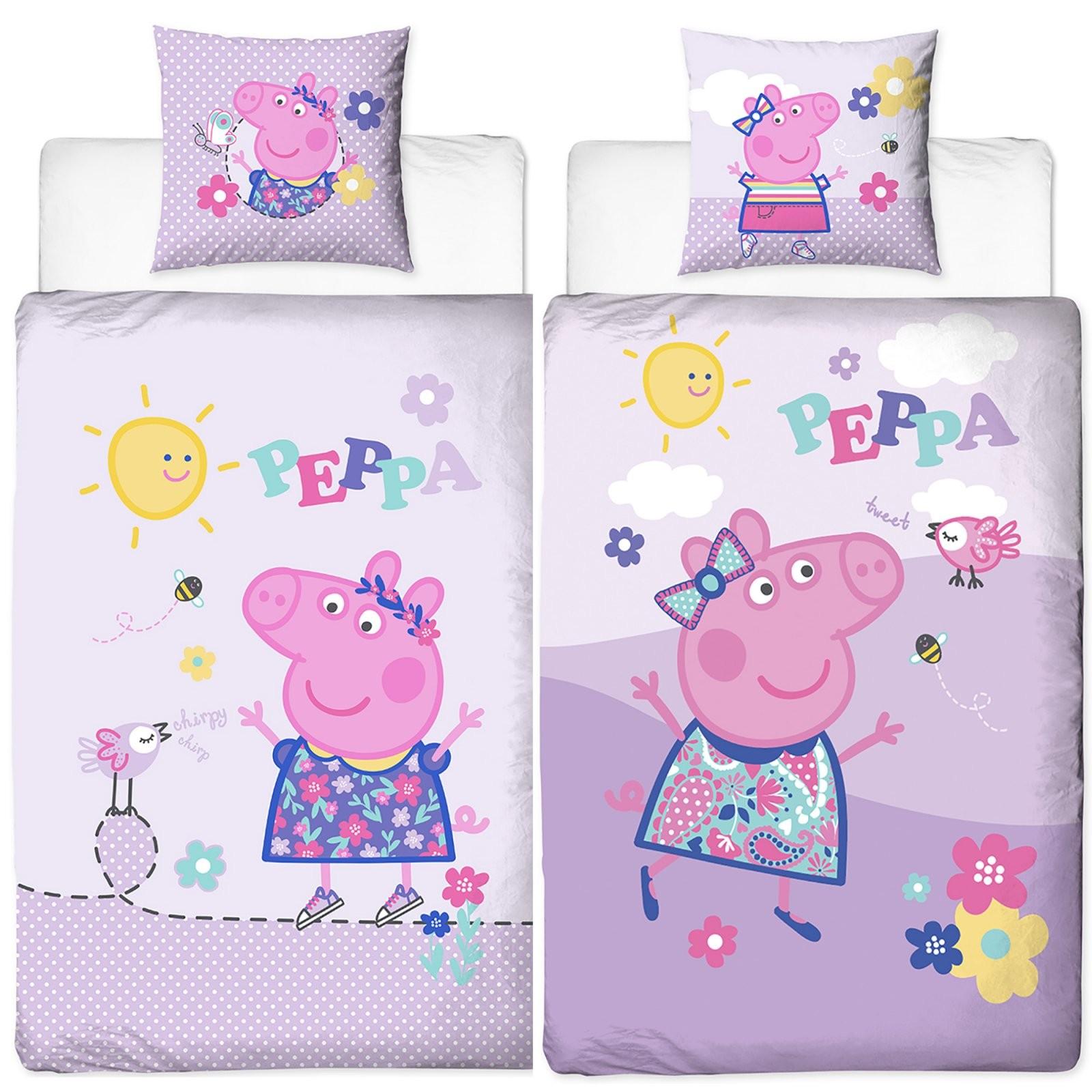 Peppa Wutz Pig Happy Bettwäsche Biber  Flanell  Kinderbettwäsche von Bettwäsche Biber Mädchen Photo