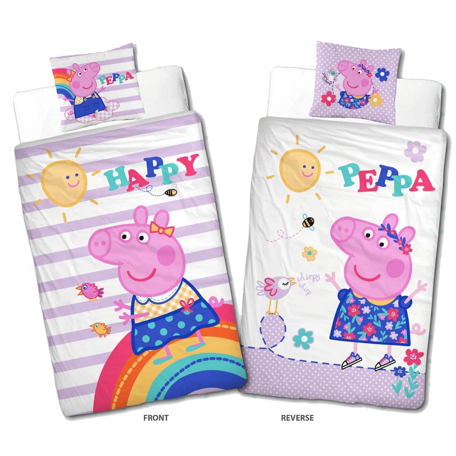 Peppa Wutz Pig Happy Bettwäsche Linon  Renforcé  Kinderbettwäsche von Bibi Und Tina Bettwäsche 135X200 Bild