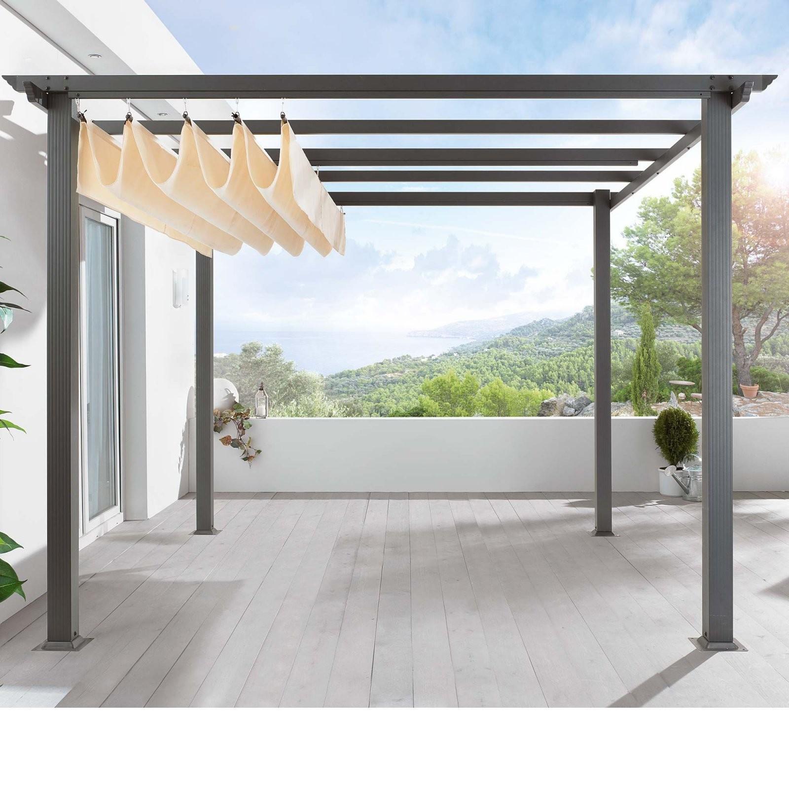 Pergola  Tutorium Entwurf  Moderne Pergola Sonnenschutz Garten von Sonnenschutz Pavillon Mit Faltdach Bild