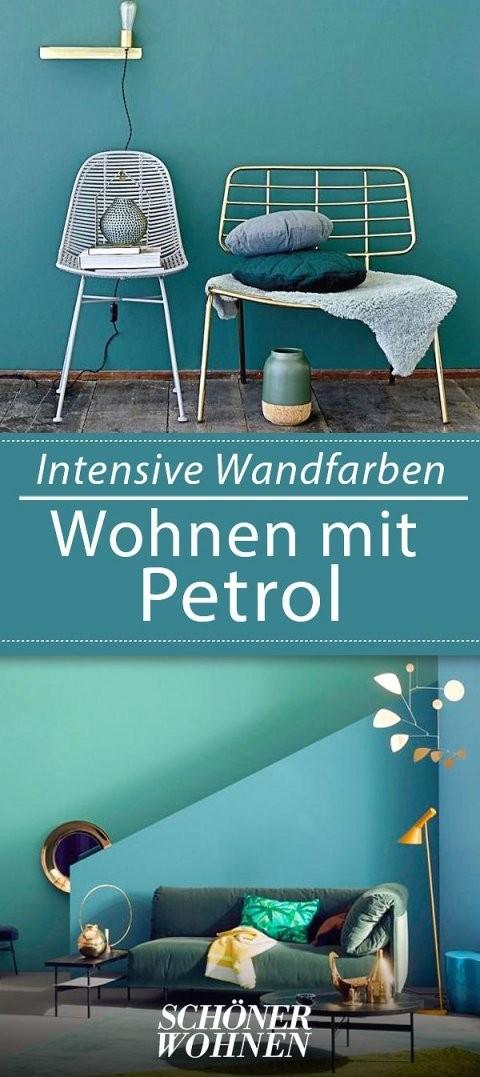 Petrol Als Wandfarbe – So Wird Sie Kombiniert  Living Room von Schöner Wohnen Farbe Petrol Bild