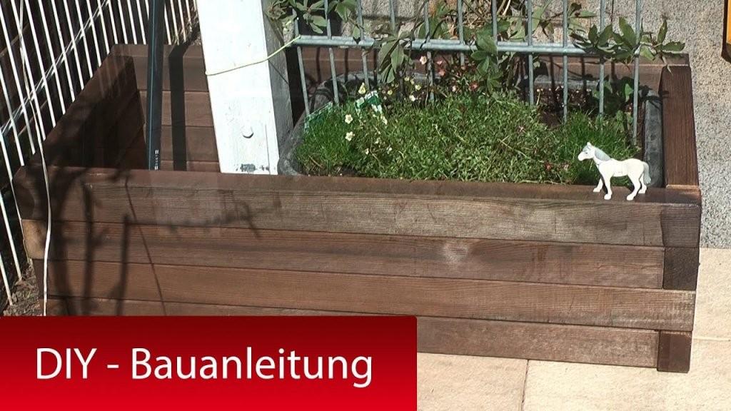 Pflanzkasten Pflanzkübel Mit Rankhilfe Selber Bauen  Diy Tutorial von Sichtschutz Mit Blumenkasten Selber Bauen Photo