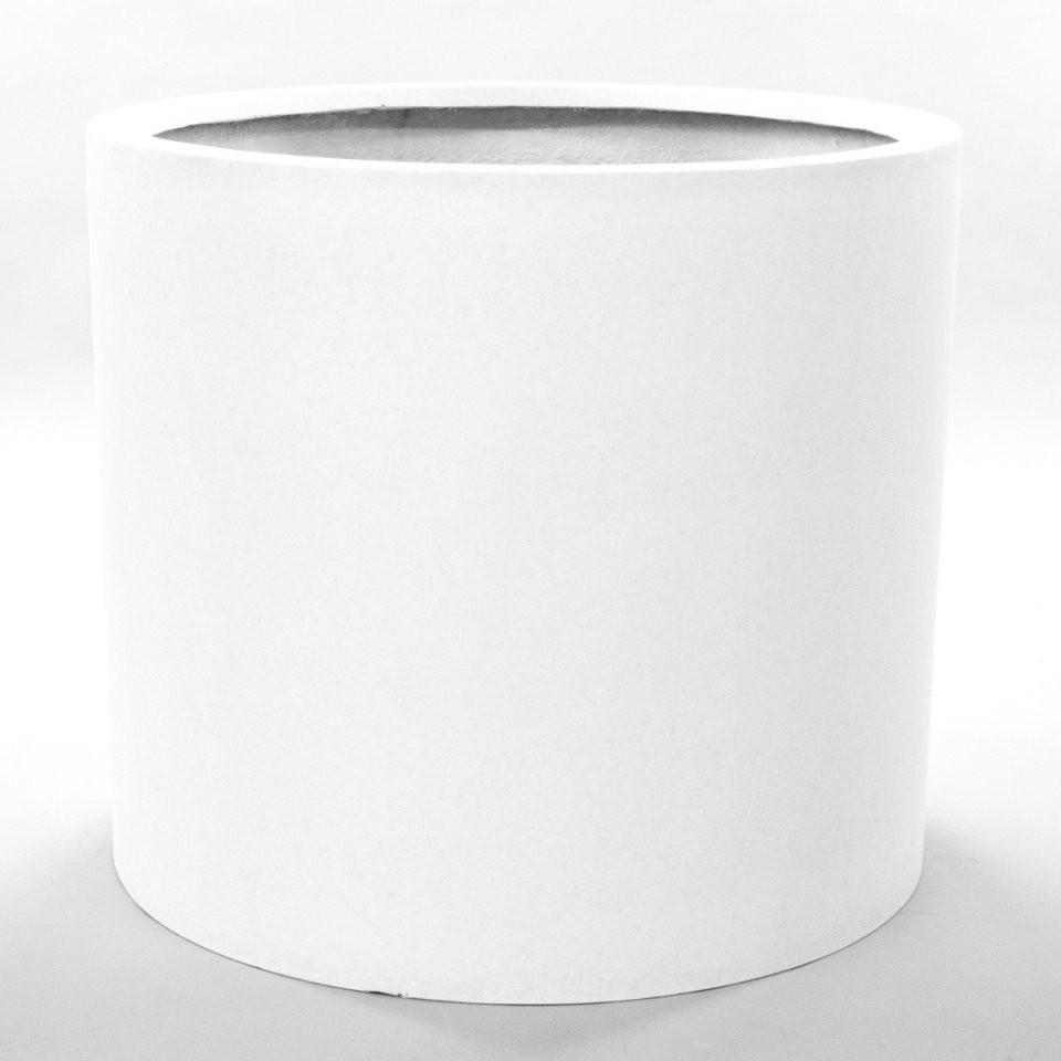 Pflanzkübel Fiberglas Zylindrisch D80Xh70Cm Perlmutt Weiß von Pflanzkübel 80 Cm Durchmesser Bild