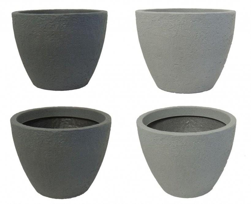 Pflanzkübel Stone 80 Cm Durchmesser Aus Kunststoff S  Real von Pflanzkübel 80 Cm Durchmesser Bild