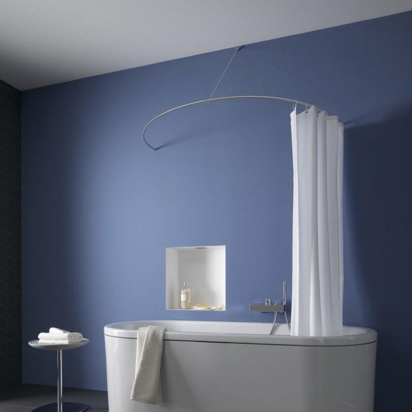 Phos Design  Product  Curved Shower Curtain Rod As A Semicircle von Duschvorhangstange L Form Badewanne Photo