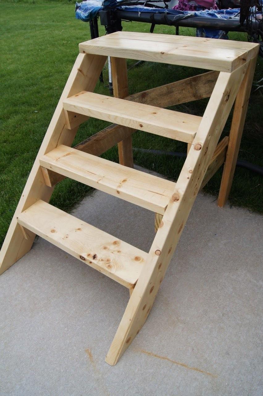 Pin Von Frau Vroni Auf Balkontreppe  Treppe Bauen Treppe Holz Und von Außentreppe Selber Bauen Holz Bild