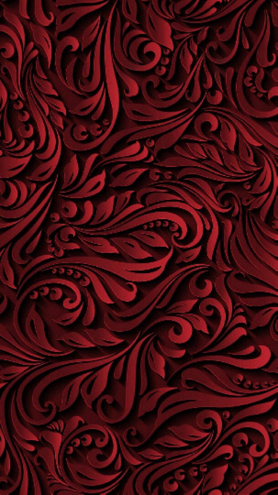 Pin Von Julia Auf Kunst  Wallpaper Backgrounds Wallpaper Und von Rote Tapete Mit Muster Bild