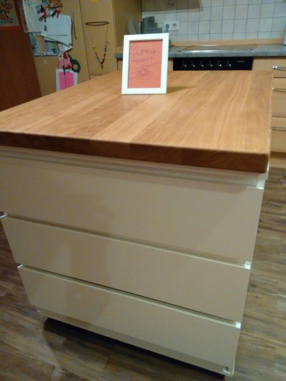 Pin Von Na Auf Ikea Hacks  Kücheninsel Küche Mit Insel Und Küche von Theke Selber Bauen Ikea Bild