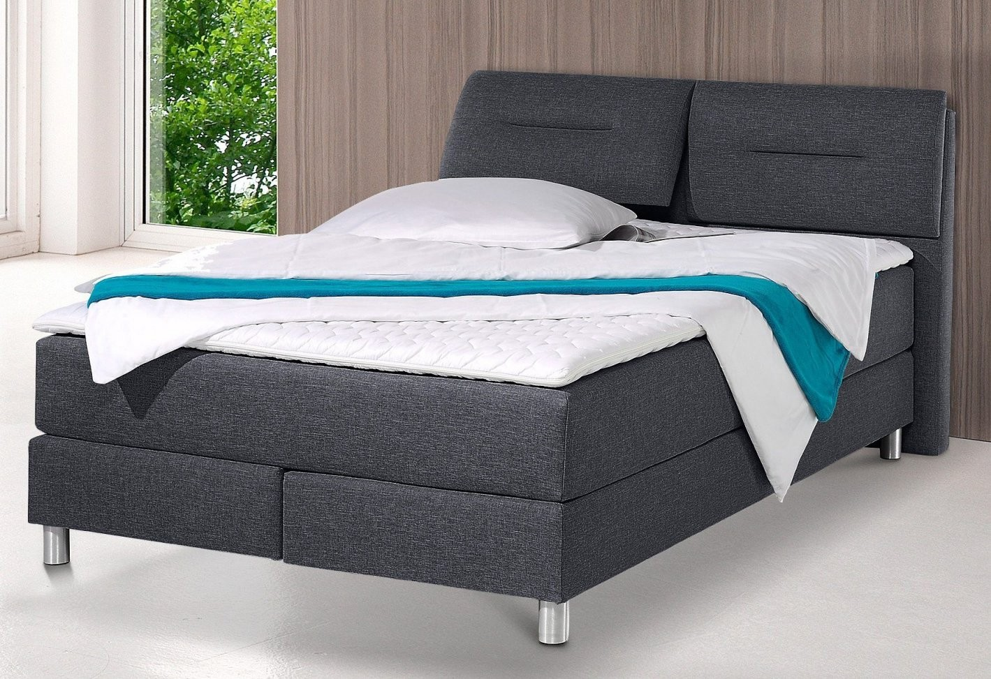 Pinladendirekt On Betten  Bed Furniture von Westfalia Polsterbetten Boxspringbett Inkl Kaltschaum Topper Bild