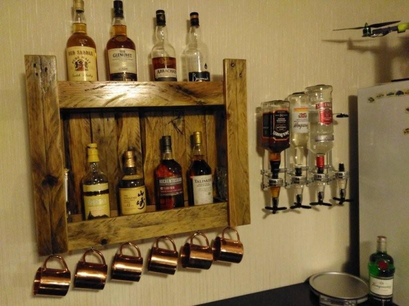 Pinwellseo On Bauanleitungen  Bars For Home Diy Home Bar von Bar Regal Selber Bauen Bild