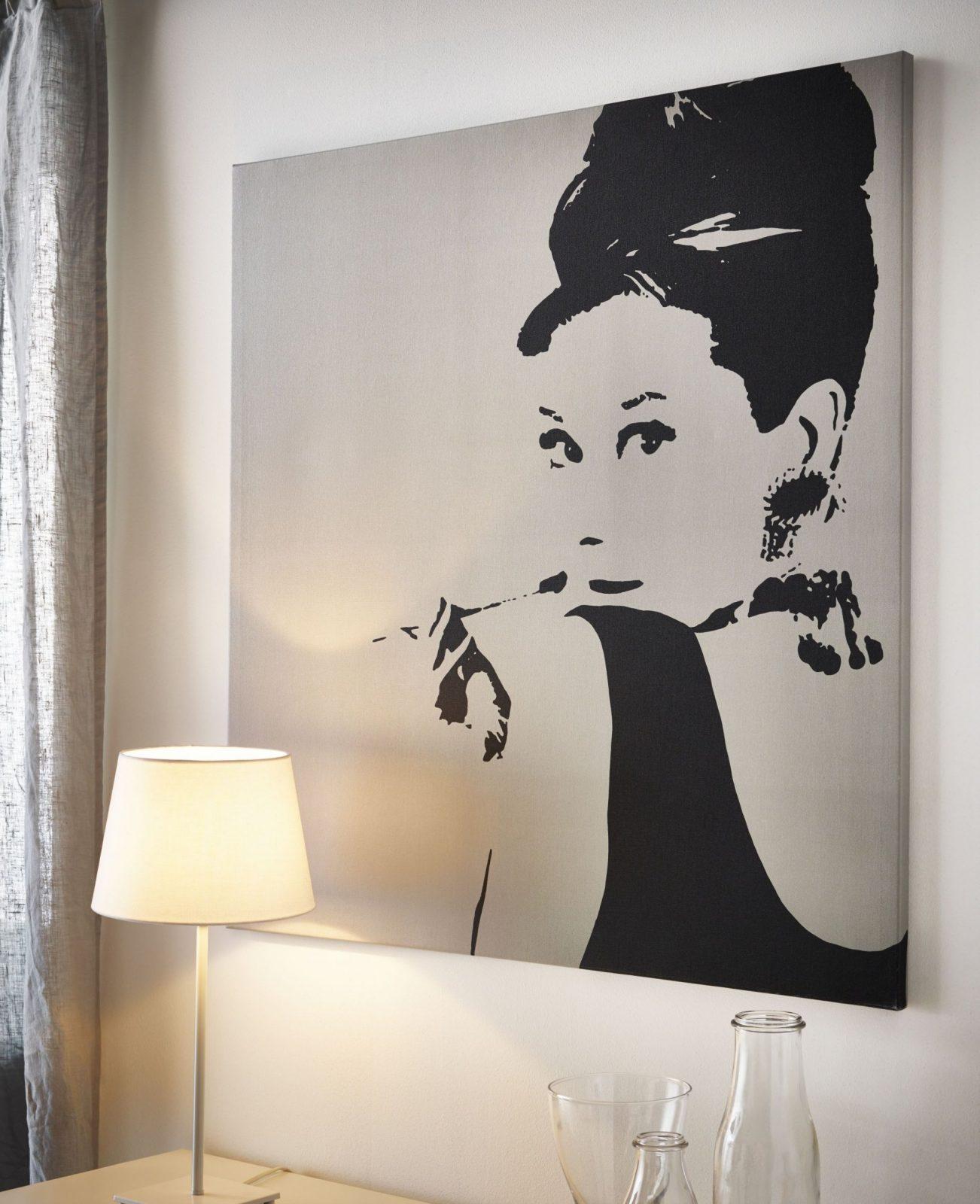 Pjätteryd Afbeelding Zonder Lijst  Ikea Audrey Hepburn von Audrey Hepburn Bild Ikea Photo