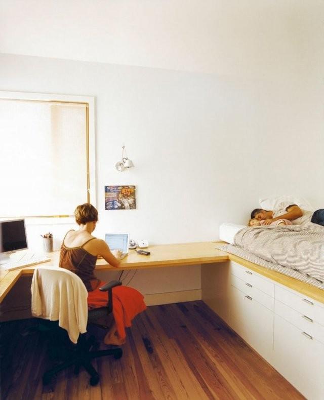 Platzsparendes Bett Selber Bauen  Bett Ideen von Platzsparendes Bett Selber Bauen Bild